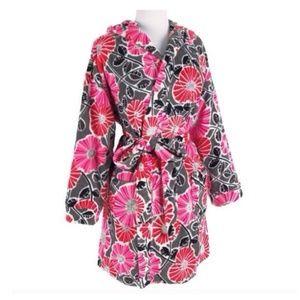 Vera Bradley Cherry Blossom Hooded Fleece Robe